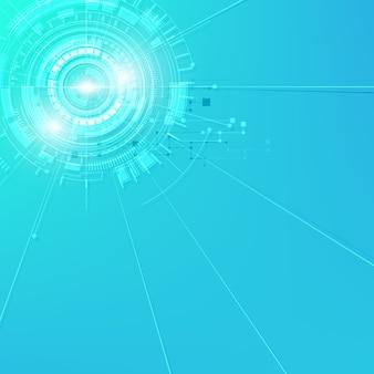 Vector achtergrond digitaal toekomstig technologie futuristisch concept