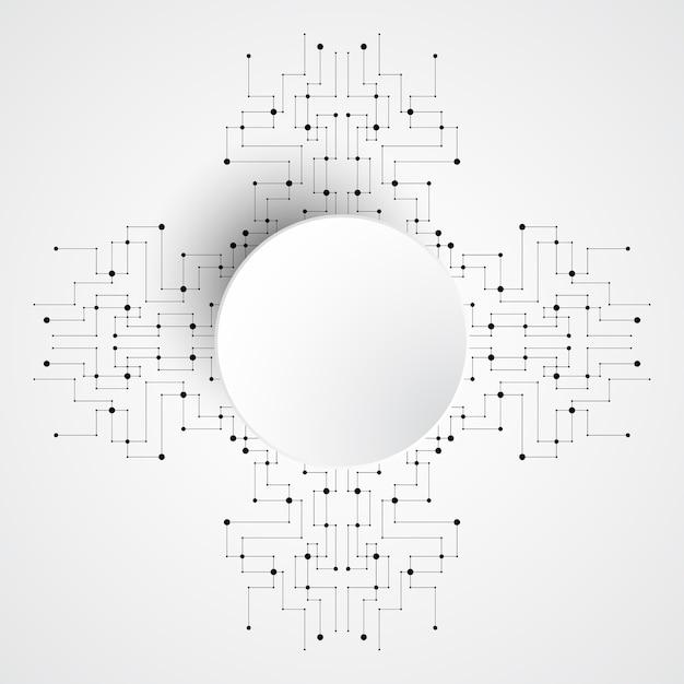Vector achtergrond elektronisch kringenontwerp.
