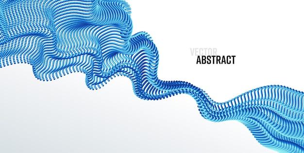 Vector achtergrond met abstracte big data splash d dots moderne wetenschap banner