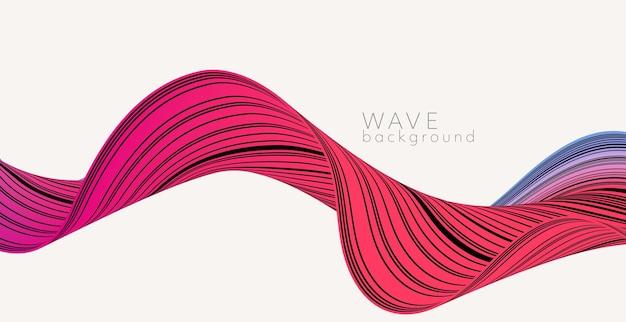 Vector achtergrond met kleur abstracte golf. moderne wetenschap banner
