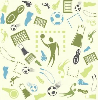Vector achtergrond naadloos. sport en handbal.