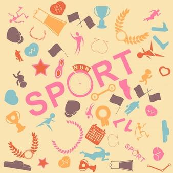 Vector achtergrond naadloos. sportloop. sportschoenen