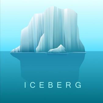 Vector achtergrond van ijsbergen en de zee