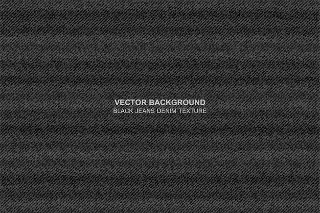 Vector achtergrond zwarte jeansdenimtextuur