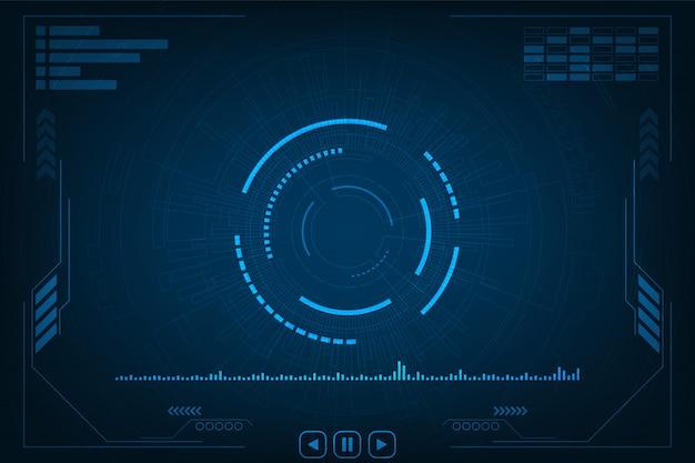 Vector achtergrondtechnologie in het concept audio.
