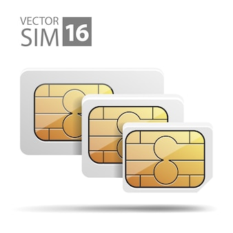 Vector afbeelding nano sim micro sim set