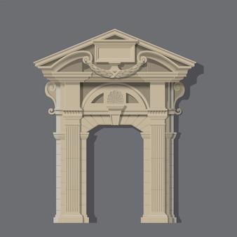 Vector afbeelding, stenen ingang van huis