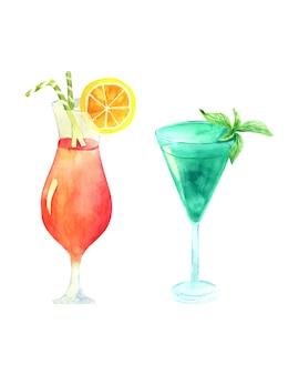 Vector afbeelding van een glas met cocktails.