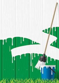 Vector afbeelding van geschilderde hek