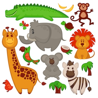 Vector afrikaanse dieren.