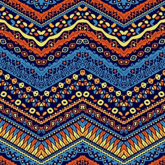 Vector afrikaanse stijl chevronpatroon met tribal motieven