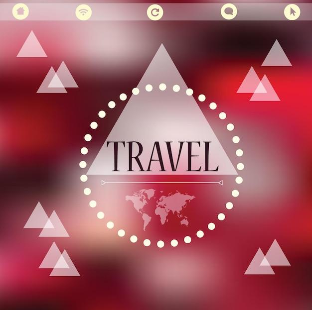 Vector aquarel kaart, reizen - onscherpe achtergrond voor ontwerp