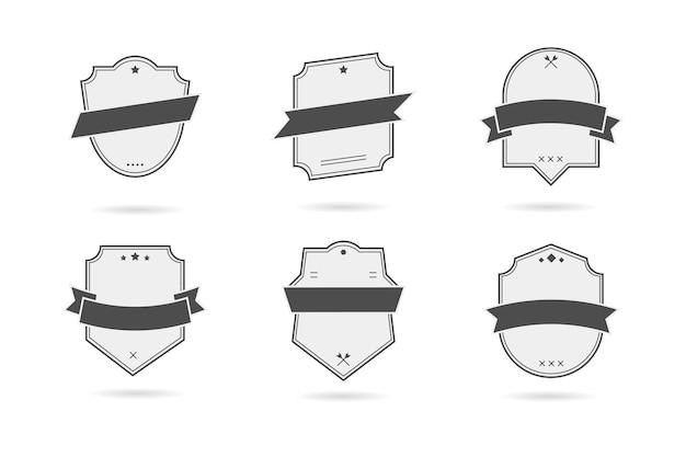 Vector badge, etiketten en linten