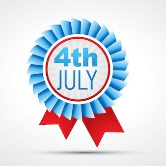 Vector badge van amerikaanse onafhankelijkheidsdag 4 juli