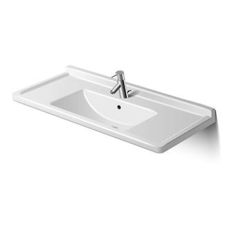 Vector badkamer of toilet wastafel, geïsoleerd.