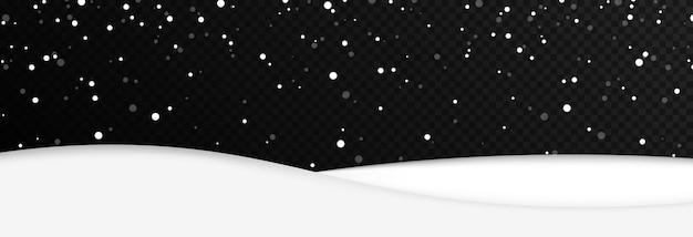Vector besneeuwd land op geïsoleerde transparante achtergrond sneeuwjacht png winter winterlandschap png