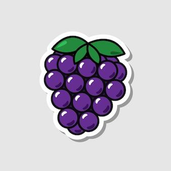 Vector blackberry-sticker in cartoonstijl geïsoleerde bes met schaduw