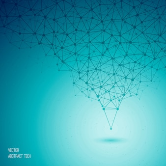 Vector blauwe abstracte technologische achtergrond