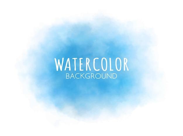 Vector blauwe aquarel achtergrond