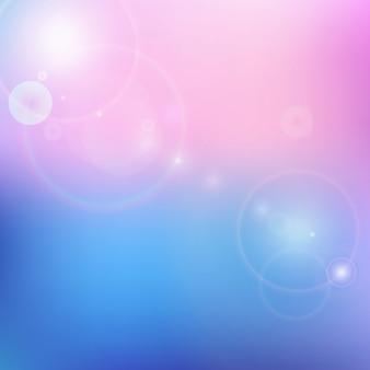 Vector blauwe en roze achtergrond wazig
