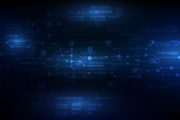 Vector blauwe toekomstige abstracte technologieachtergrond