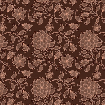 Vector bloem naadloze patroon achtergrond. elegante textuur voor achtergronden. klassieke luxe ouderwetse bloemenornament, naadloze textuur voor wallpapers, textiel, verpakkingen.