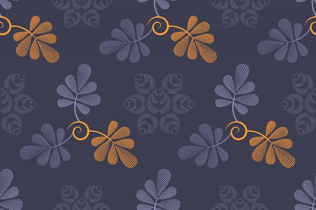 Vector bloemen naadloos patroon