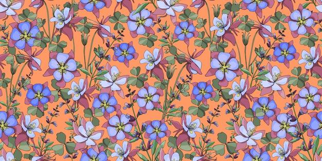 Vector bloemen naadloos patroon.