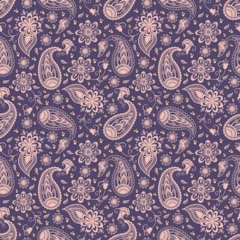 Vector bloemen naadloze patroon achtergrond in arabische stijl. arabisch patroon. oosterse etnische versiering. elegante textuur voor achtergronden.