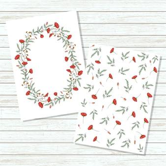 Vector bloemen uitnodigingskaart