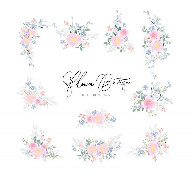 Vector bloemenboeketontwerp voor huwelijk