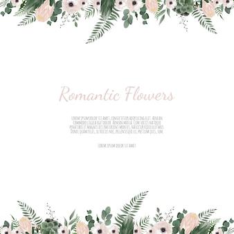 Vector bloemenontwerpkaart