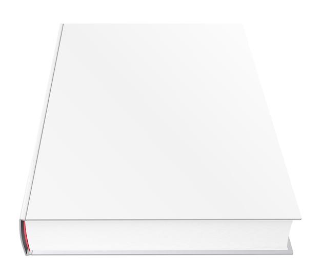 Vector boek mockup met lege omslag, sjabloon illustratie geïsoleerd op wit.