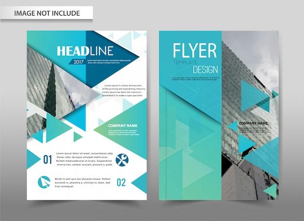 Vector brochure flyer-sjabloon