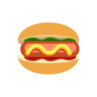 Vector burgeron de witte blackground