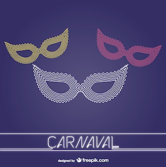 Vector carnaval maskers