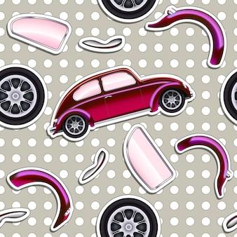 Vector cars naadloze achtergrond voor jongensjong geitje