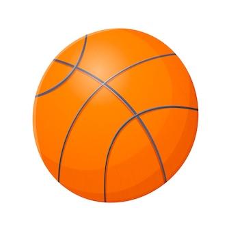 Vector cartoon geïsoleerde illustratie van een basketbal bal. uitrusting voor teamsporten.