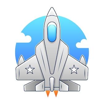 Vector cartoon gevechtsvliegtuig. twin-engine, variabele-sweep vleugel multirol gevechtsvliegtuigen. beschikbare eps-10-vectorindeling, gescheiden door groepen en lagen voor eenvoudige bewerking
