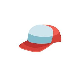 Vector cartoon plat modieuze baseballcap. nieuwe trendy mooie accessoire hoed geïsoleerd op lege achtergrond-kledingwinkel, winkelen en mode concept, website banner advertentie ontwerp