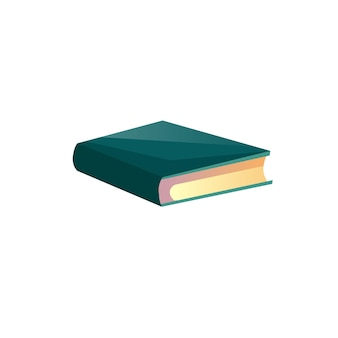 Vector cartoon platte boek of leerboek geïsoleerd op lege achtergrond. literaire of wetenschappelijke gedrukte werk-lezing, leren, onderwijs concept, website banner advertentie ontwerp
