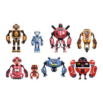 Vector cartoon robot sjabloon