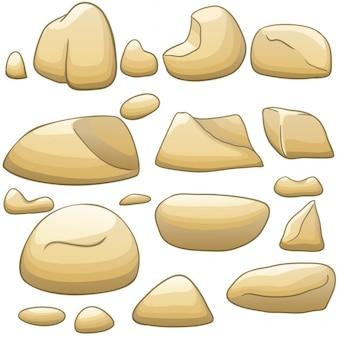 Vector cartoon stenen die