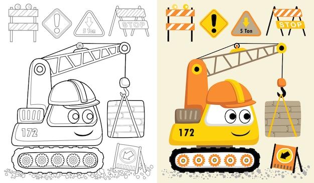Vector cartoon van bouwmachines