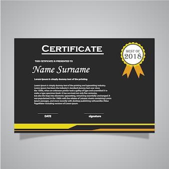 Vector certificaat sjabloon
