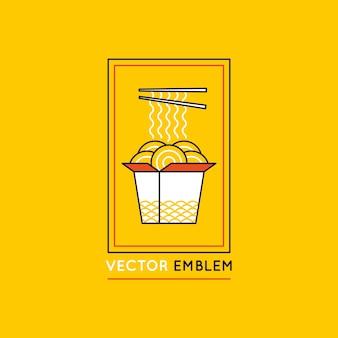 Vector chinese en aziatische voedselconcepten