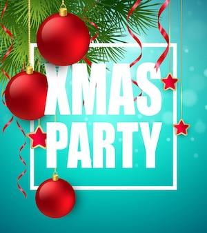 Vector christmas party ontwerpsjabloon. vectorillustratie eps10