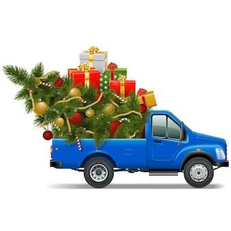 Vector christmas pick-up geïsoleerd op een witte achtergrond