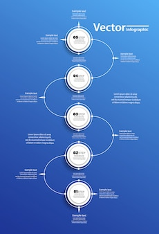 Vector cirkel infographic op blauwe backgraund