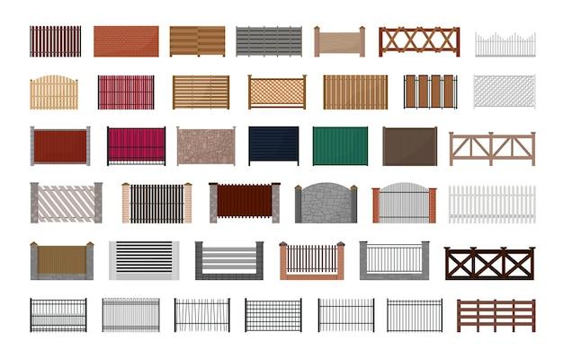 Vector collectie van hekken.